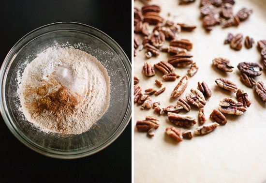flour and pecans