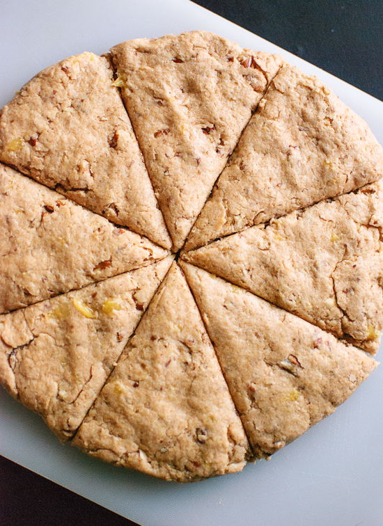 how to make vegan banana nut scones