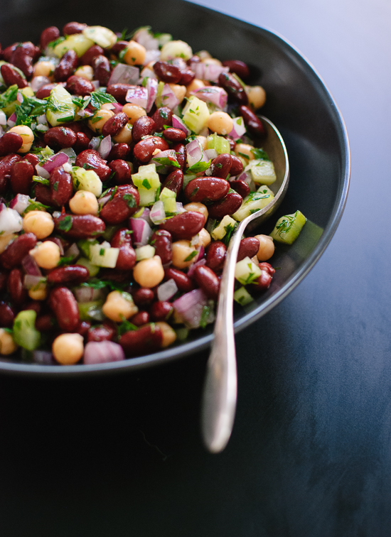 Lemon-Parsley Bean Salad - cookieandkate.com