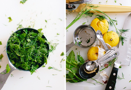 mint, dill and lemon