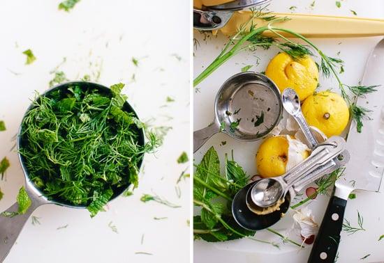 mint, dill and lemon