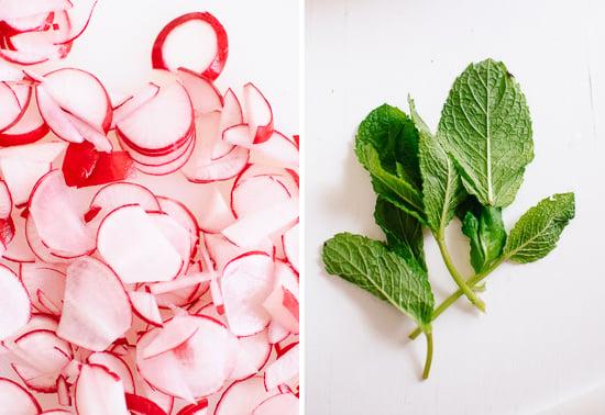 radish and mint