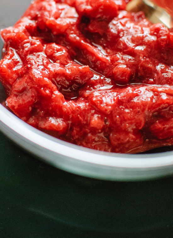 Roasted strawberry-rhubarb sauce - cookieandkate.com