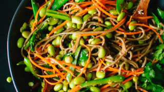 Sugar snap pea and carrot soba noodles recipe