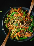Sugar snap pea and carrot soba noodles - cookieandkate.com