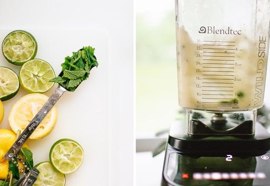 blended mint lemonade