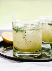 The Bootleg is a refreshing cocktail made with naturally sweetened lemon-limeade blended with mint, plus vodka or gin and club soda. cookieandkate.com