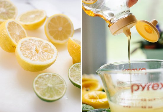 lemons, limes and agave nectar