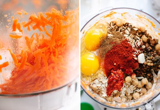 lentil and carrot burger ingredients