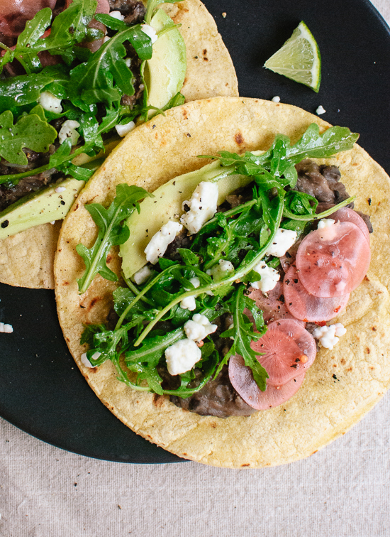 Simple, fresh and filling vegetarian tacos! - cookieandkate.com