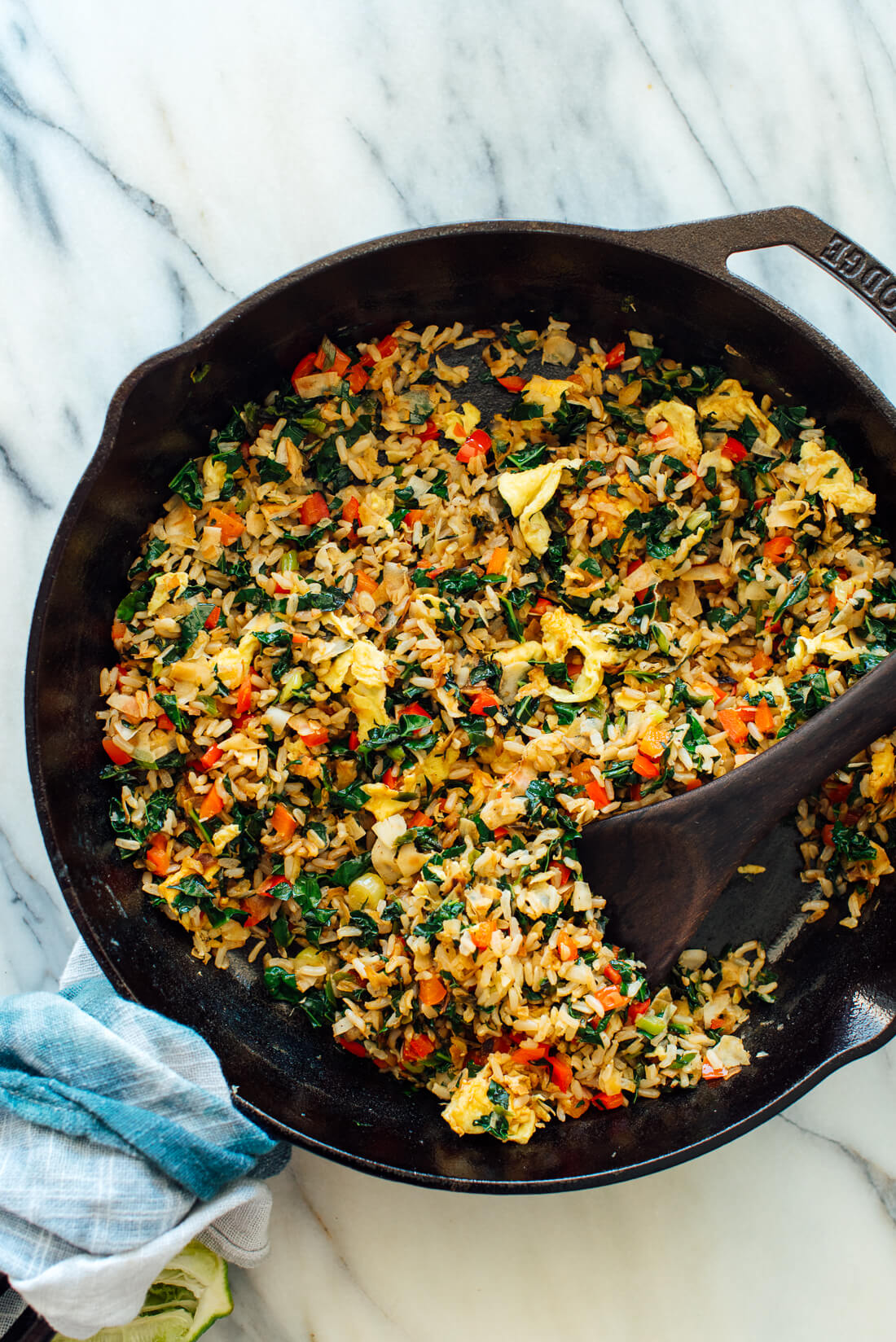 Spicy Kale and Coconut Fried Rice - Cookie and Kate