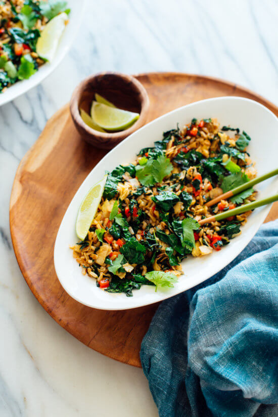 Spicy Kale and Coconut Stir Fry | Super Easy And Flavorful Stir Fry Recipes | Homemade Recipes