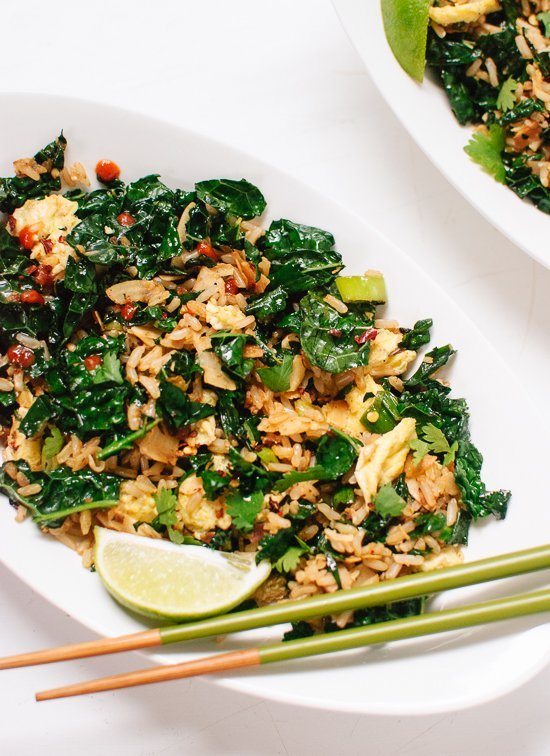 Spicy Kale and Coconut Stir Fry - cookieandkate.com