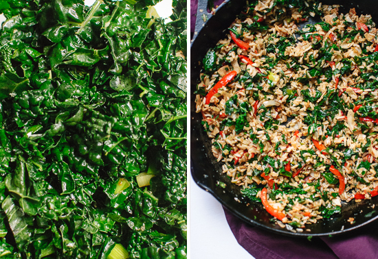 stir-fried kale and coconut