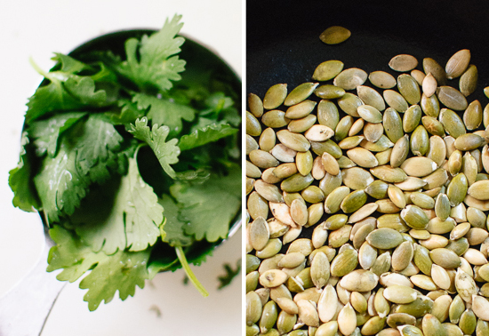 cilantro and pepitas