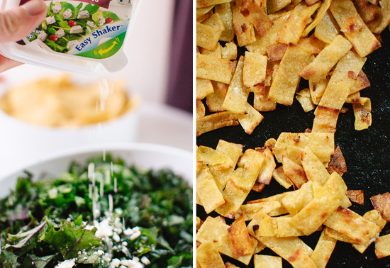 feta and crispy tortilla strips