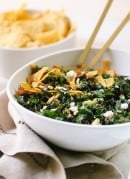 Feta Fiesta Kale Salad with Avocado and Crispy Tortilla Strips