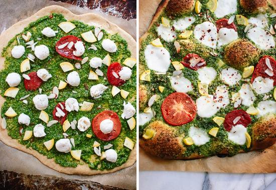 how to make pesto pizza