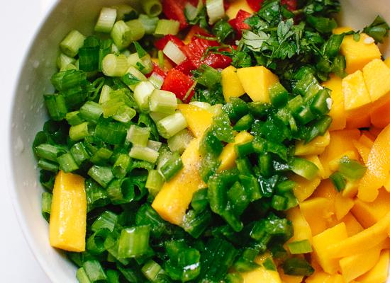 Mango salsa - cookieandkate.com