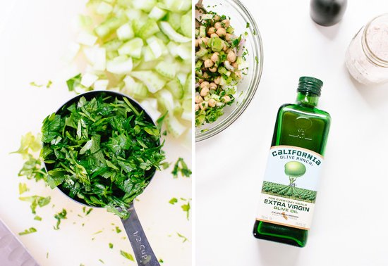chopped parsley and olive oil