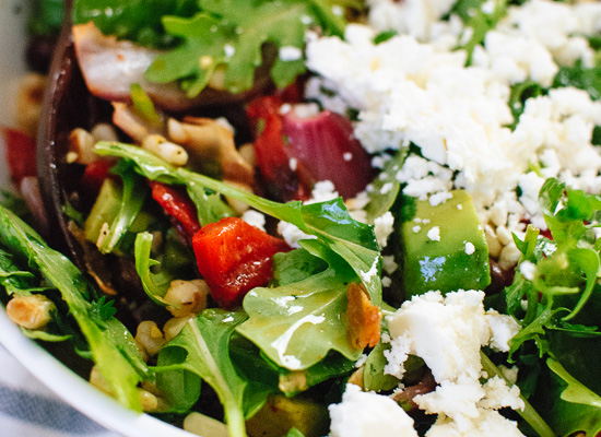 Feta, arugula and corn salad - cookieandkate.com
