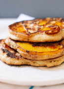 Gluten-free peach pancakes - cookieandkate.com