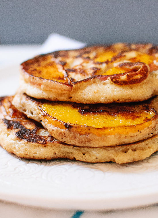 Gluten-Free Peach and Oat Pancakes