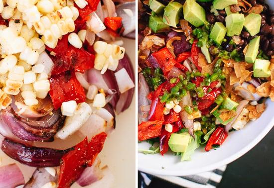 grilled vegetarian summer salad