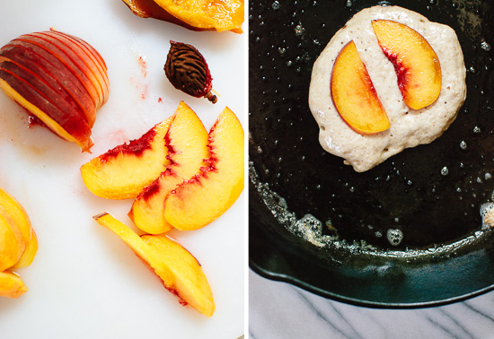 How to make peach pancakes