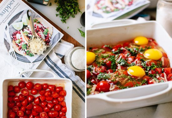 how to make tomato basil egg bake