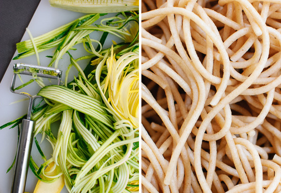 squash and spaghetti noodles