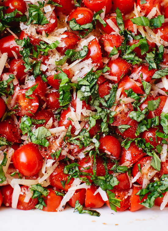 Tomato basil and Parmesan - cookieandkate.com