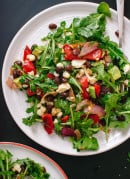 Vegetarian grilled summer salad with chili-lime dressing - cookieandkate.com