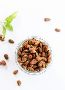 Basil Pesto Party Almonds
