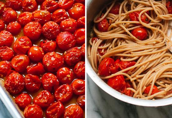 burst cherry tomato spaghetti