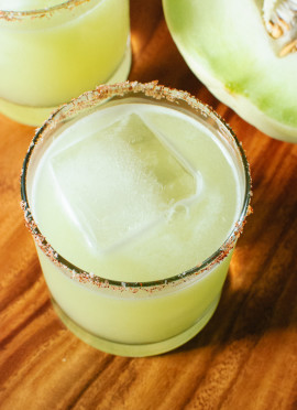 Fresh Honeydew Margaritas