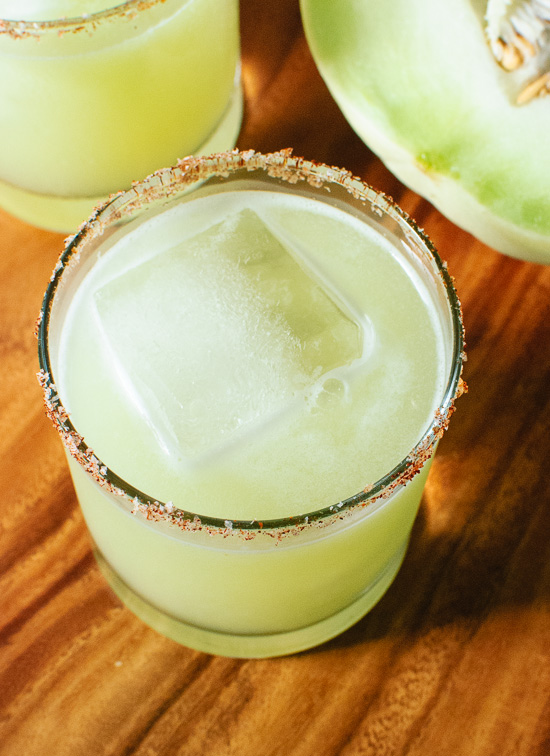 Fresh honeydew margarita recipe - cookieandkate.com