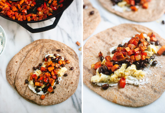 How to make breakfast burritos - cookieandkate.com