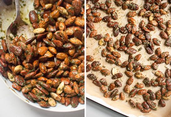 how to make pesto almonds