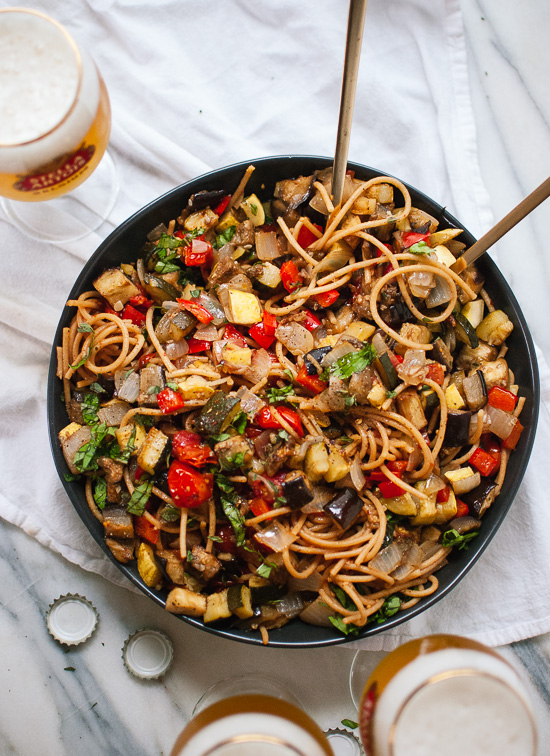 Roasted Ratatouille with Spaghetti - Cookie and Kate