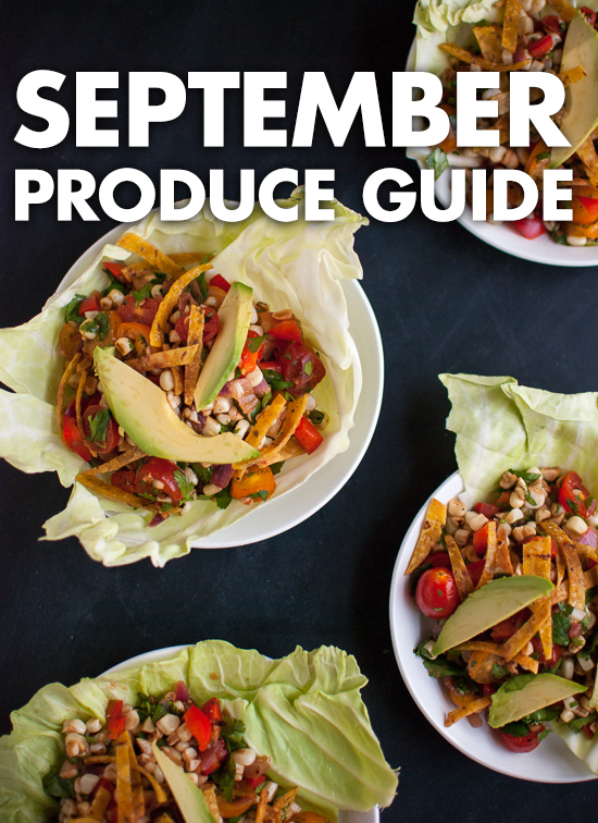 What to do with September fruits and vegetables! cookieandkate.com