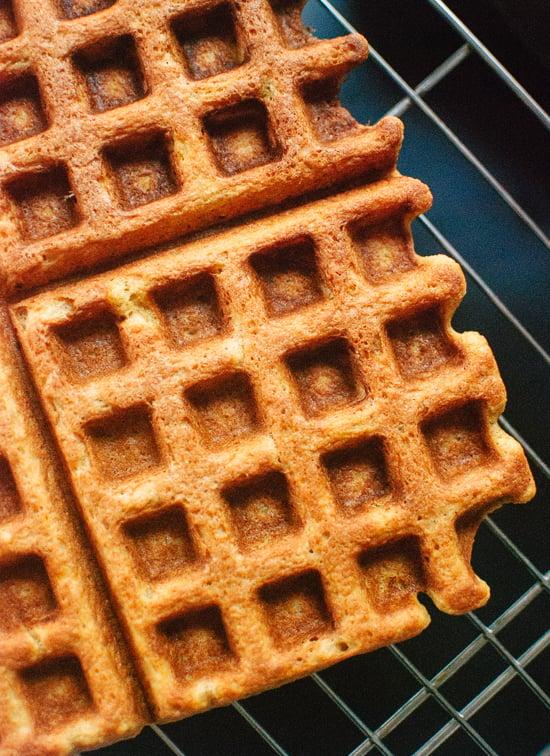 Belgian pumpkin spice waffles recipe (gluten free) - cookieandkate.com