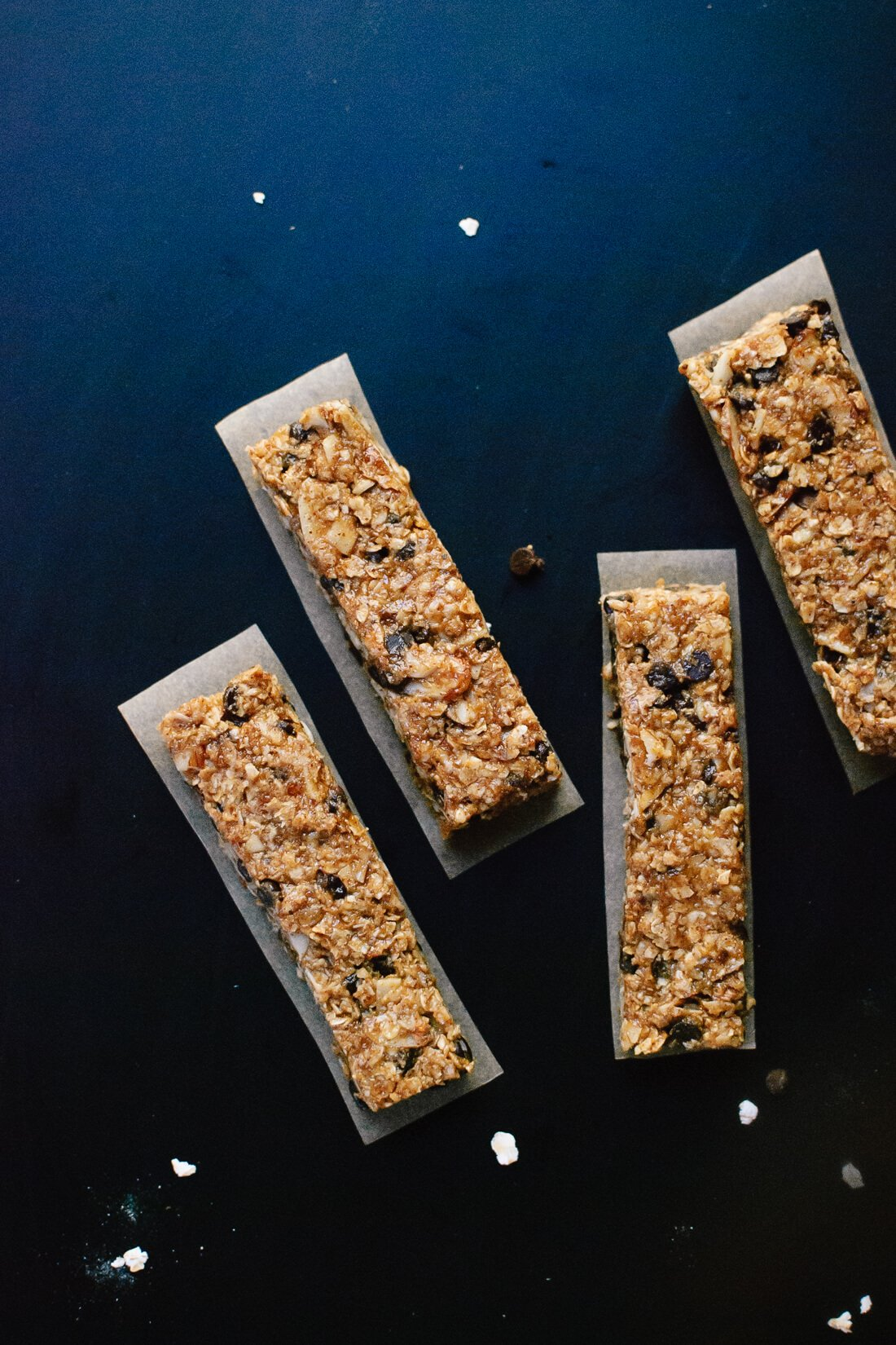 Healthy chocolate chip granola bars cookie and kate healthy honey sweetened salted almond chocolate chip granola bars keep these bars ccuart Image collections