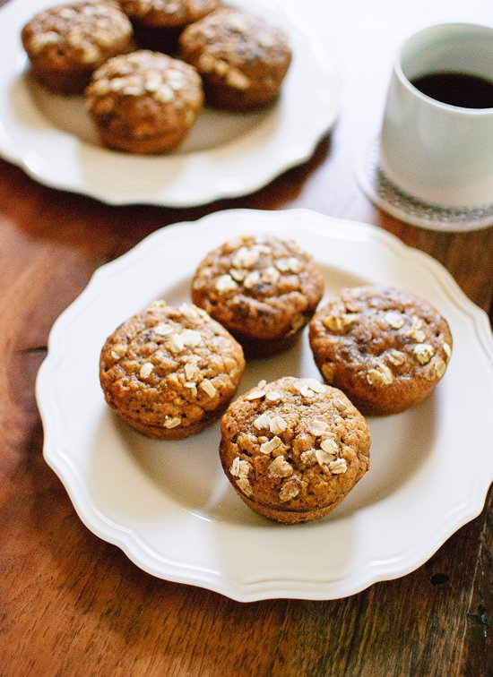 Maple-Sweetened Pumpkin Muffins with Oats - cookieandkate.com