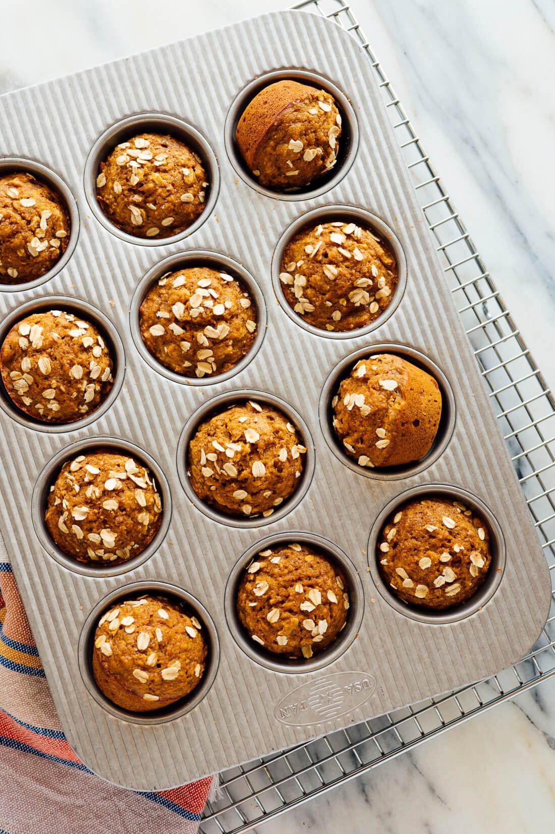 Muffins de calabaza saludables
