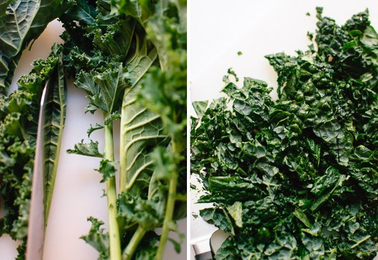 How to chop kale salad