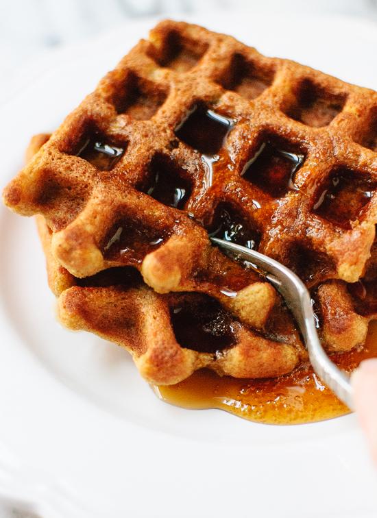 Gluten-free pumpkin oat waffles recipe - cookieandkate.com