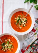Roasted red pepper tortilla soup recipe - cookieandkate.com