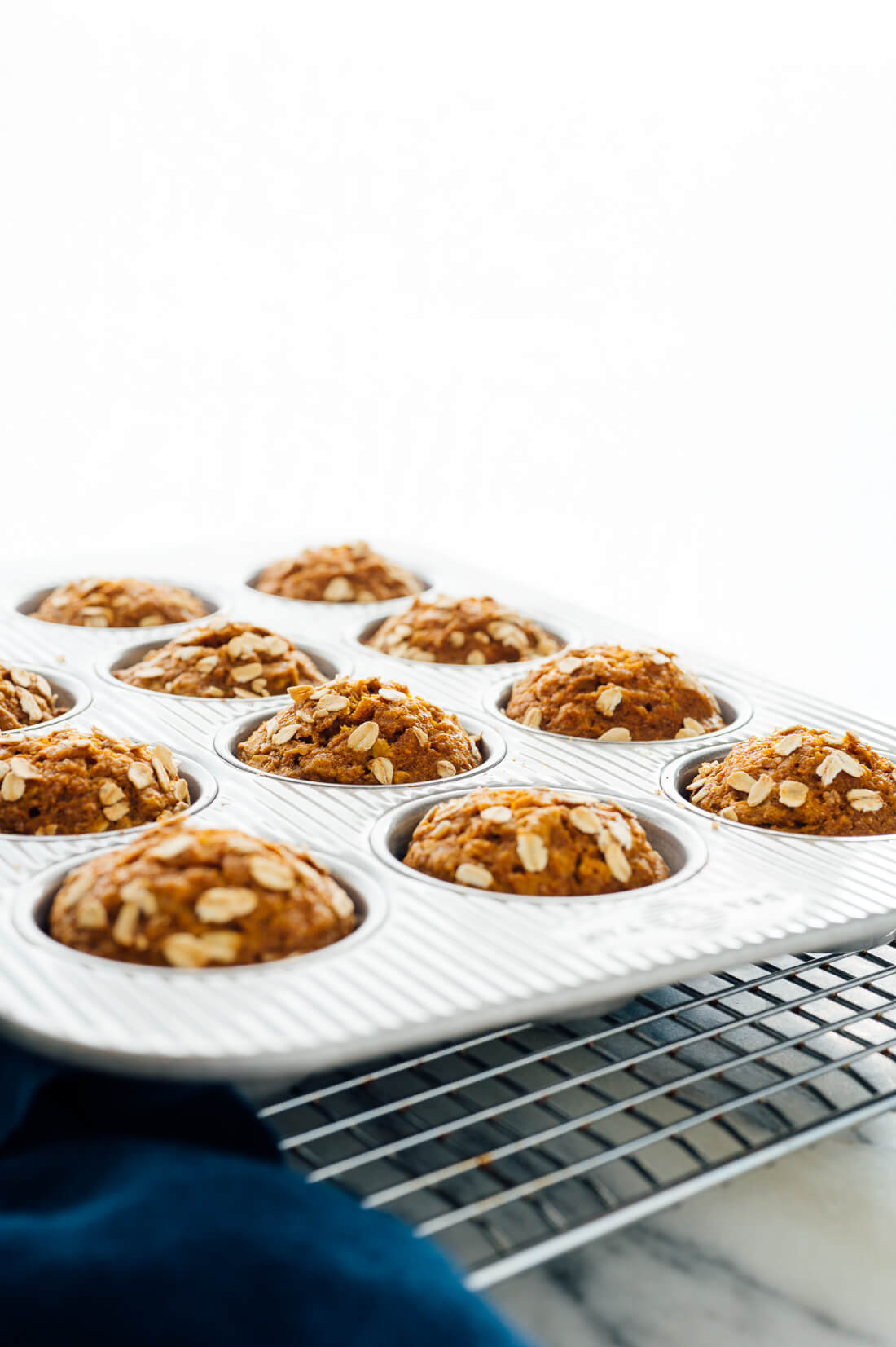 whole grain, naturally sweetened pumpkin muffins