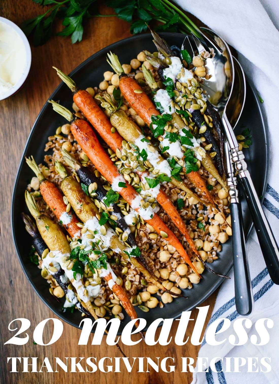Find 20 hearty vegetarian recipes for your Thanksgiving table! cookieandkate.com